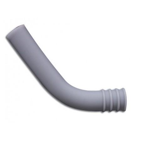 TUBE ECHAPP. COUDE GRIS 9mm