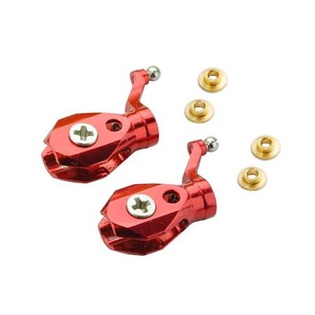 Precision CNC Aluminum Main Blade Grip set (RED)
