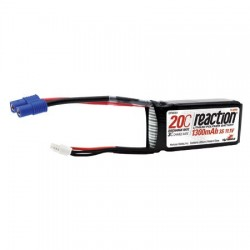 Accus Lipo REACTION 11,1V 1300mAh 3S 20C avec EC3