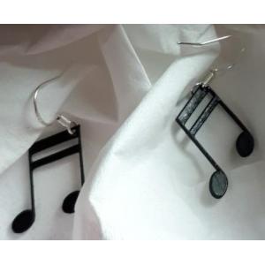 Boucles d'oreilles en disque vinyle