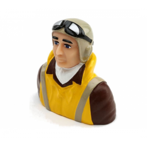 1/5 SCALE WWII PILOT WITH VEST, HELMET, GOGGLES - HAN9133