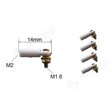 Chape micro à boule M2 + vis M1.6 (5 pcs)