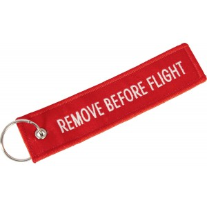 "PORTE-CLÉS ""REMOVE BEFORE FLIGHT"""